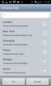 The World Time: výběr měst