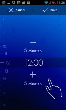 Timely Alarm Clock: nastavení času buzení