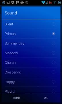 Timely Alarm Clock: výběr melodie