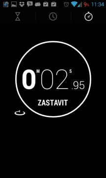 Hodiny z Androidu 4.2: stopky