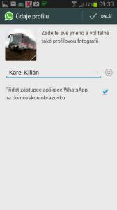 Nastavení profilové fotky a jména