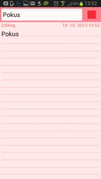 ColorNote Poznámkový blok note