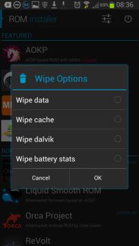 Provedení wipe