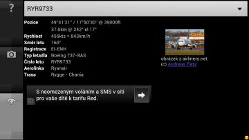 Podrobnosti o letadle