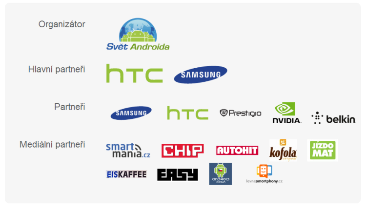 Android RoadShow 2013 partneři
