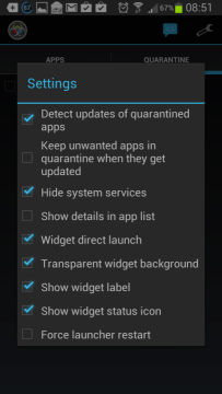 App Quarantine ROOT/FREEZE