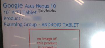 Nový Nexus 10 - podle @evleaks bude od Asusu