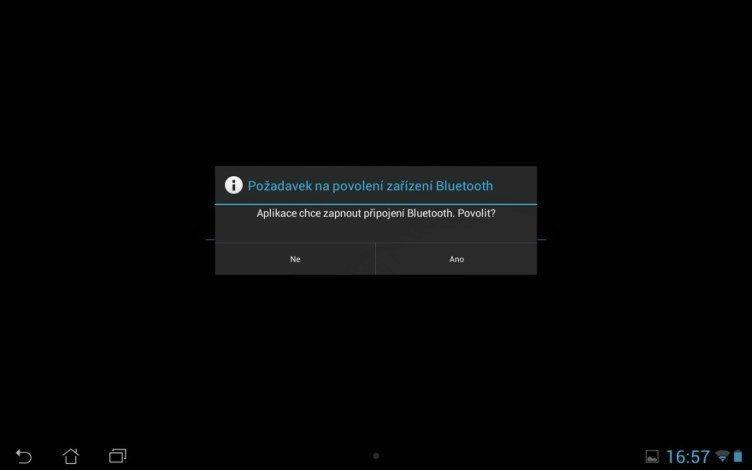 Bluetooth je k používání kostky nezbytný