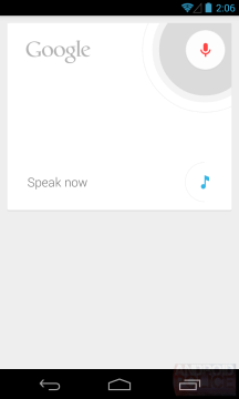 Hlasové zadávání v Androidu 4.3