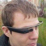 Google Glass na hlavě