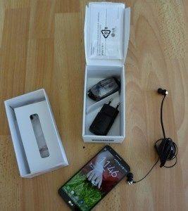 LG G2: obsah balení