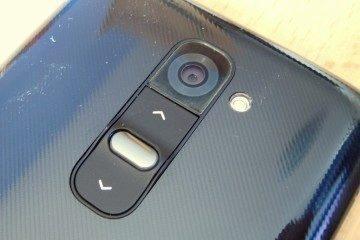 LG G2: Optika fotoaparátu a tlačítka