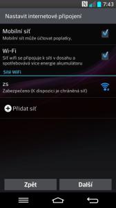 Nastavení internetového připojení