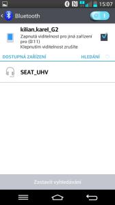 Připojení k Bluetooth handsfree