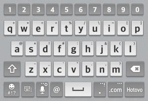 Výchozí klávesnice
