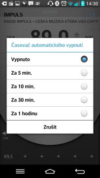 FM Rádio umí automatické vypnutí