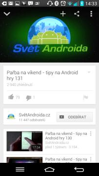 Aplikace Youtube