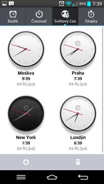 Budík/Hodiny: světový čas