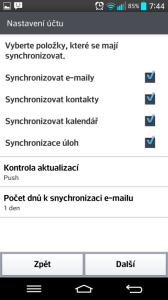 E-mail: synchronizace s Exchange serverem