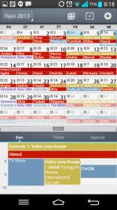 Kalendář - denní pohled