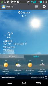 Počasí: aktuální stav a předpověď na 4 dny