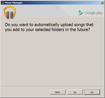 Chcete nově přidané skladby uploadovat automaticky?