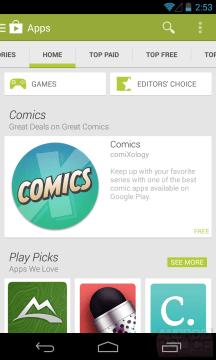 Nová verze Obchodu Play