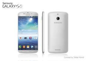 Návrh možného vzhledu Samsungu Galaxy S5 dle Tobiase Hornofa