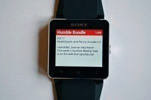 Sony SmartWatch 2 Gmail notifikace 2