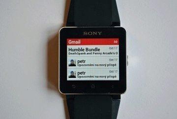 Sony SmartWatch 2 Gmail notifikace