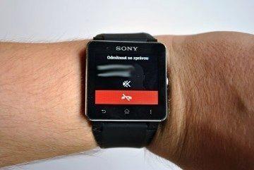 Sony SmartWatch 2 prichozi hovor