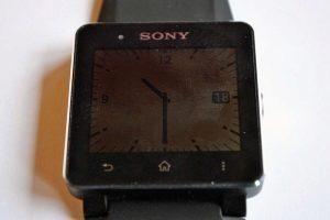 Sony SmartWatch 2 vypnuty displej