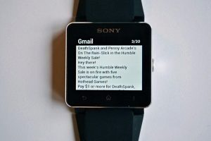 Sony SmartWatch 2 WatchIt Gmail