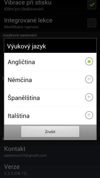 Výběr jazyka