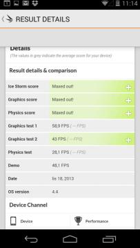 Nexus 5: výsledky v benchmarku 3D Mark Extreme