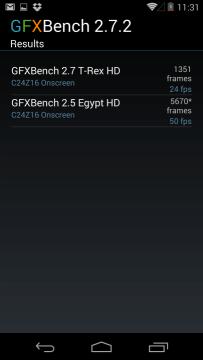 Nexus 5: výsledky v benchmarku GFXBench