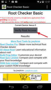 Verify Root Access