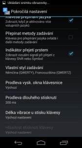 Možnosti nastavení klávesnice