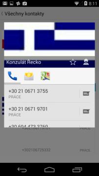 Informace o kontaktu - telefonní čísla