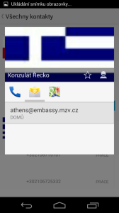 Informace o kontaktu - e-mailové adresy