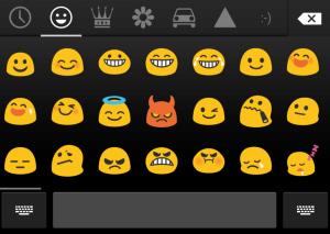 Nabídka grafických symbolů klávesnice