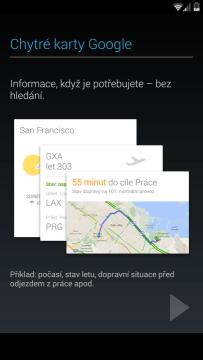 Úvodní konfigurace - Chytré karty Google