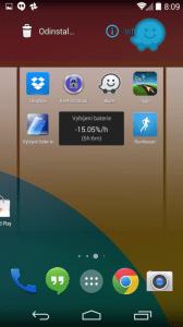 Přetažením ikony do pravého horního rohu zobrazíte informace o programu