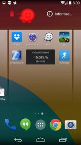 Přetažením ikony do levého horního rohu lze program odinstalovat