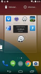 Aplikaci lze vytáhnout na domovskou obrazovku