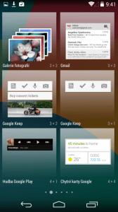 Práce s widgety - náhledy widgetů