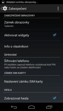 ...aktivací zatržítka Aktivovat widgety