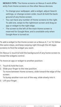 Android Quick Start Guide, 4.4 KitKat