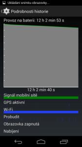 Telefon byl připojen přes Wi-Fi a probouzel se pouze kvůli synchronizaci