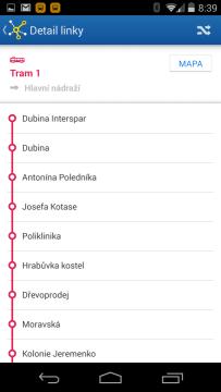 CG Transit: detail linky